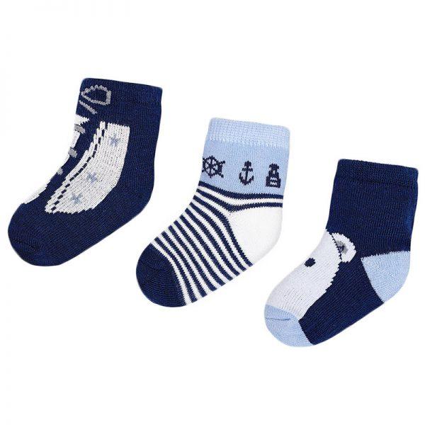 Κάλτσα 18-09895-028 Σιέλ Mayoral (Σετ 3 τεμαχίων)
