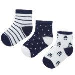 Κάλτσα 20-09243-032 Μπλέ Σκούρο Mayoral (Σετ 3 τεμαχίων)