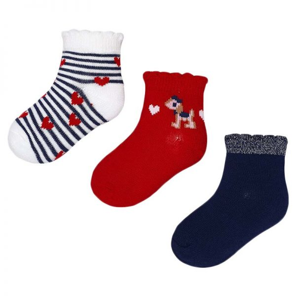Κάλτσα 28-10349-041 Κόκκινο Mayoral (Σετ 3 τεμαχίων)