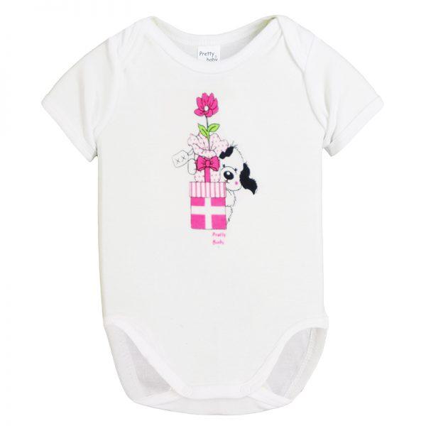 Κορμάκι 34561-2 Λευκό Pretty Baby