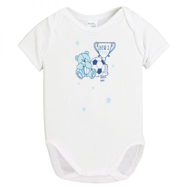 Κορμάκι 34571-2 Λευκό Pretty Baby