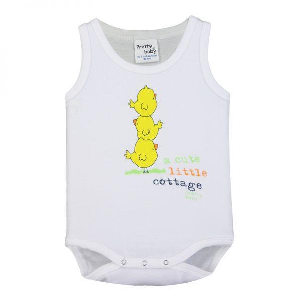 Κορμάκι 34573-3 Λευκό Pretty Baby