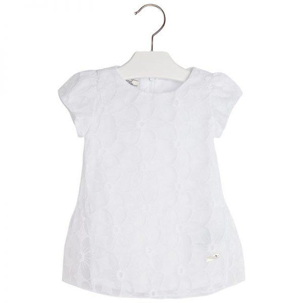 Φόρεμα 25-01931-061 Λευκό Mayoral