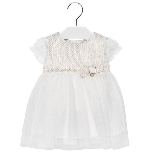 Φόρεμα 29-01906-015 Εκρού Mayoral