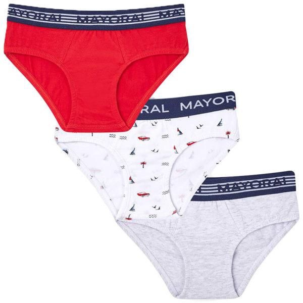 Σλίπ 29-10556-074 Κόκκινο Mayoral (Σετ 3 τεμαχίων)