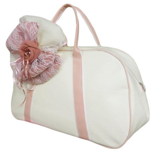 Τσάντα 11711 Τριαντάφυλλο Εκρού-Σάπιο Μήλο Zaxos