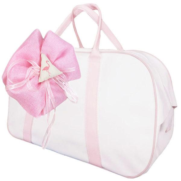 Τσάντα 11711 Φλαμίνγκο Λευκό-Ρόζ Zaxos