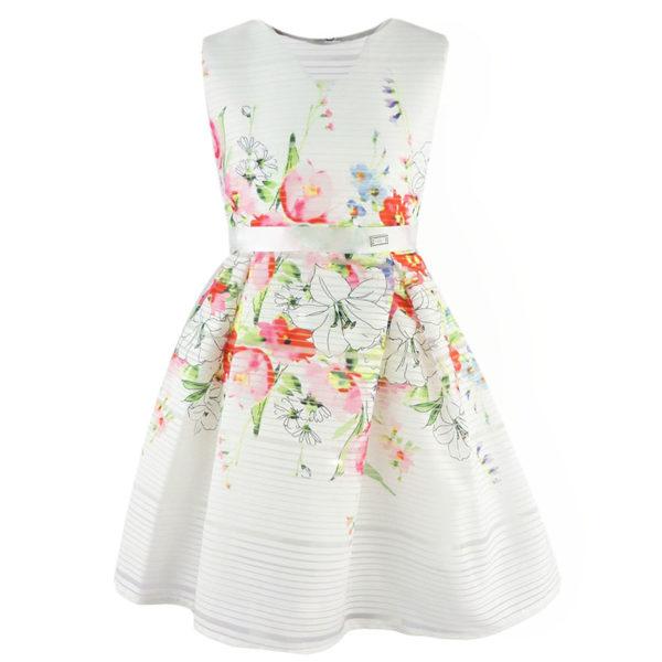 Φόρεμα 198002 Εκρού Εβίτα