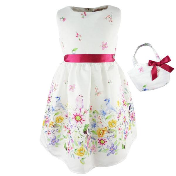 Φόρεμα 198007 Εκρού Εβίτα