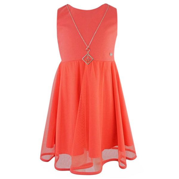 Φόρεμα 198069 Κοραλί Εβίτα