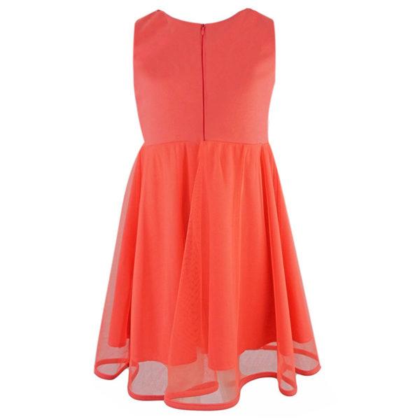 Φόρεμα 198069 Κοραλί Εβίτα_2