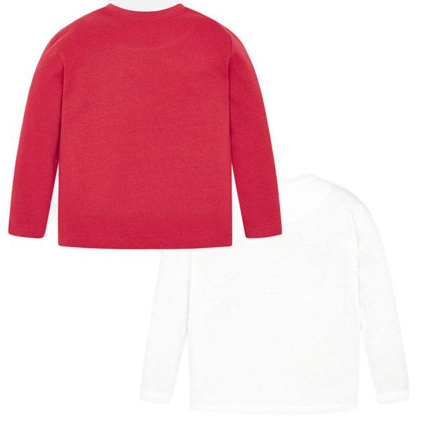 Μπλούζα 19-04021-087 Κόκκινο-Λευκό Mayoral (Σετ 2 τεμαχίων)_2