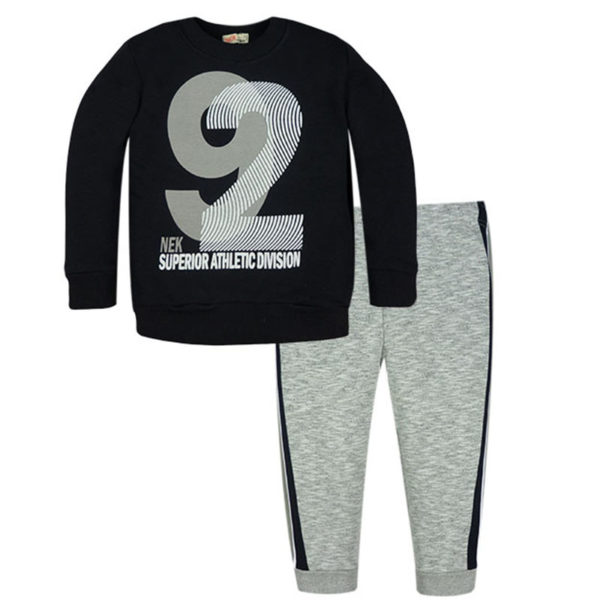 Φόρμα 141419 Γκρί Nek Kidswear