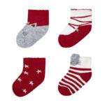 Κάλτσα 10-09306-064 Κόκκινο Mayoral (Σετ 4 τεμαχίων)